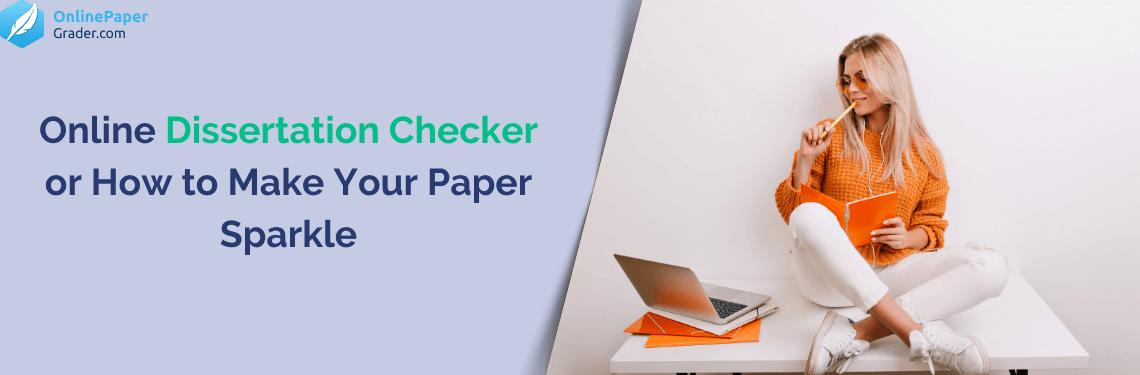 Dissertation checker good creative writing topics
